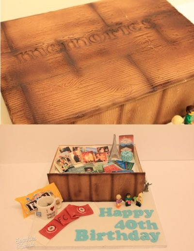 40th birthday memory box cake