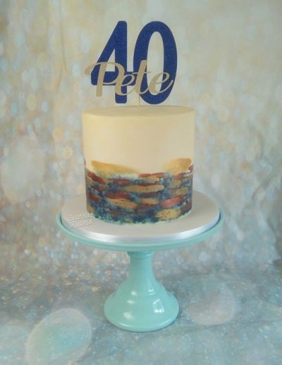 Men's 40th birthday cake