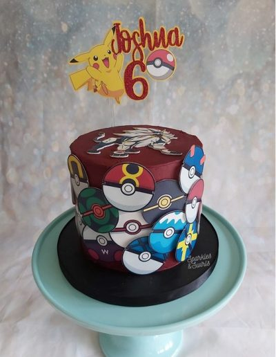 Children's pokemon birthday cake