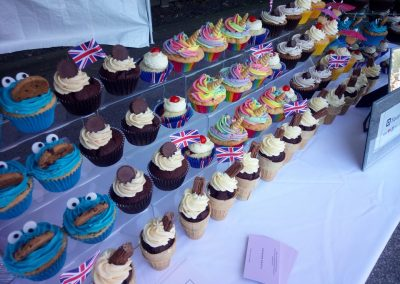 Cupcakes on a market stall