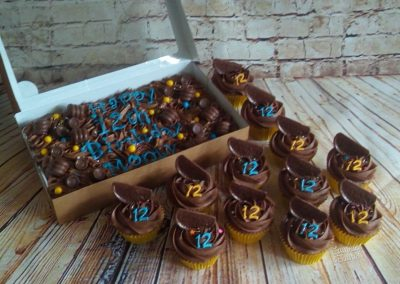 Chocolate orange cupcakes with a traybake