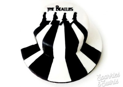 SparklesAndSwirls_Amazing_Beatles_60s_Vintage_Music_Birthday_Cake