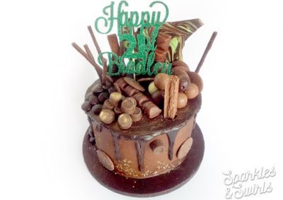 SparklesAndSwirls_Awesome_Chocolate_Flake_Rolo_Marble_Chocoholic_21st_Happy_Birthday_Cake_London_Bromley_Croydon
