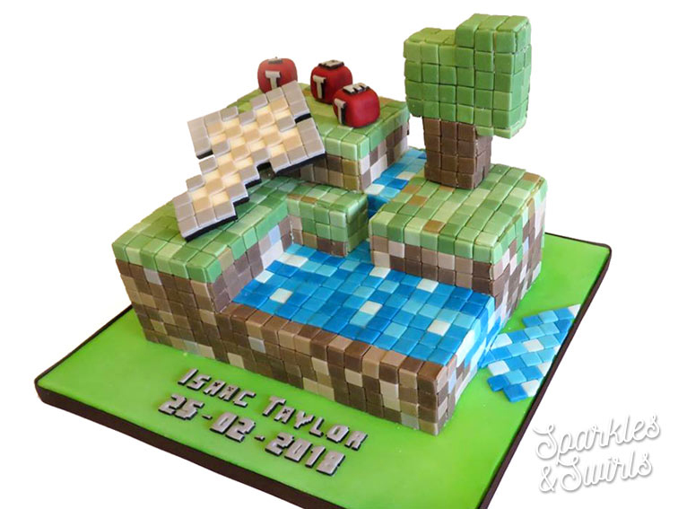 Minecraft Kids Birthday Cake