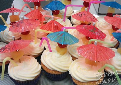 Umbrella Cocktail Cupcakes
