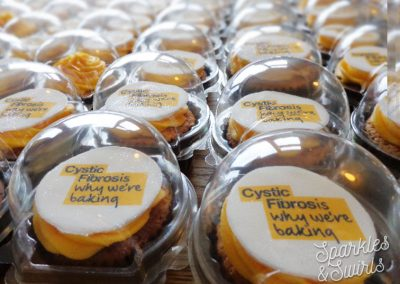 Individually packaged Corporate Charity Cupcakes