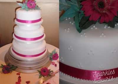 STiered Flower Wedding Cake